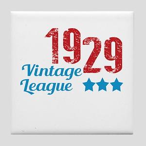 1929 Vintage League Tile Coaster