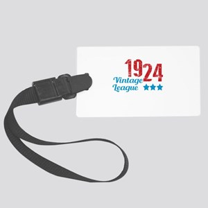 1924 Vintage League Large Luggage Tag