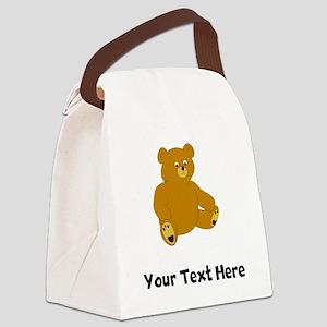 Cartoon Bear (Custom) Canvas Lunch Bag
