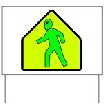 Alien Crossing Yard Sign