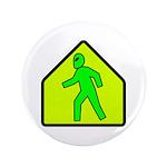 "Alien Crossing 3.5"" Button (100 pack)"