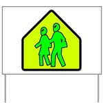 Alien School Xing Yard Sign