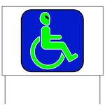 Handicapped Alien Yard Sign
