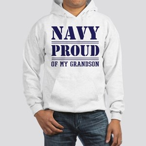 Navy Proud Of Grandson Hoodie