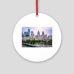 Philadelphia skylight the best Round Ornament