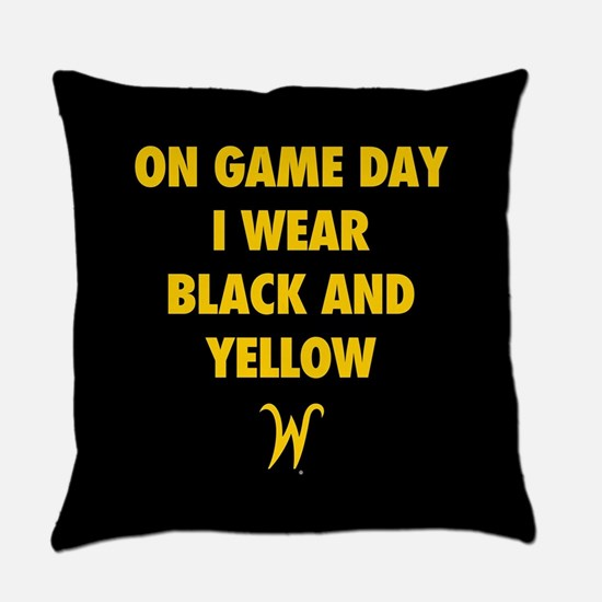 Wichita State On Game Day I Wear B Everyday Pillow