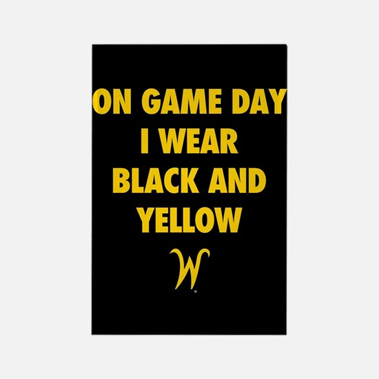 Wichita State On Game Day I Wear Rectangle Magnet