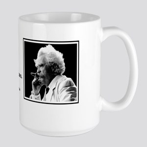 Twain on Giving up Smoking Large Mug