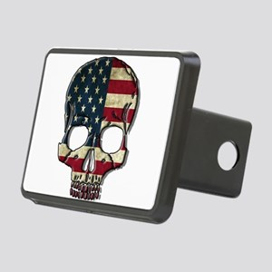 American Flag Skull Hitch Cover