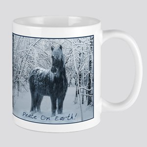 Winter horse. Christmas horse Mug