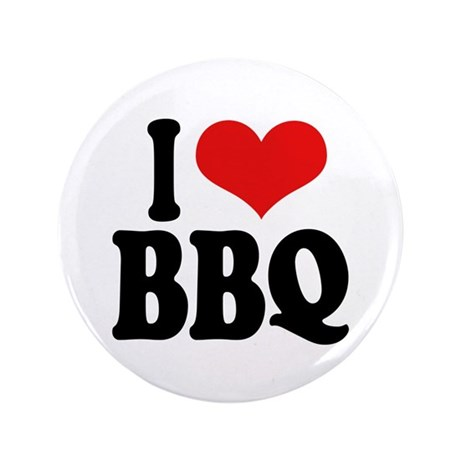 """I Love BBQ 3.5"""" Button (100 pack)"""