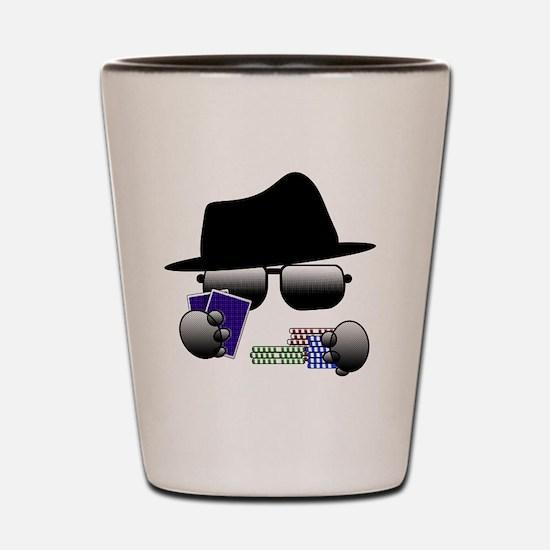 Cute Poker player Shot Glass