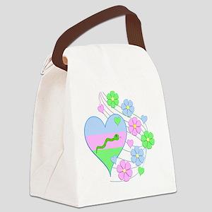 Fun Snake Heart Canvas Lunch Bag