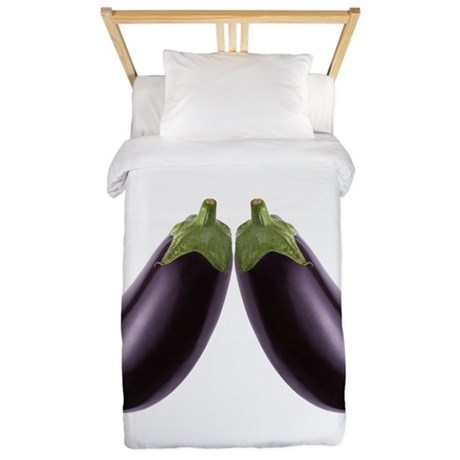 Equal Eggplant Love Twin Duvet Cover