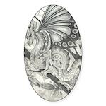 Fairy Dragon Oval Sticker