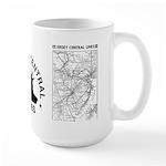 Jersey Central Lines Large Mug