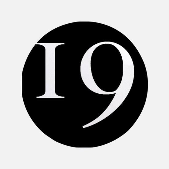 """""""19"""" v.1 (w/b) 3.5"""" Button"""