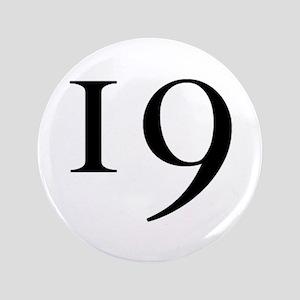 """""""19"""" v.1 (b/w) 3.5"""" Button"""