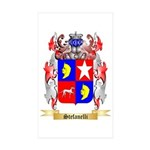 Stefanelli Sticker (Rectangle 50 pk)