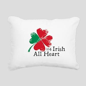 Quarter Irish All Heart Rectangular Canvas Pillow