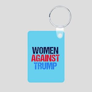 Women Against Trump Aluminum Photo Keychain