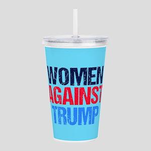Women Against Trump Acrylic Double-wall Tumbler