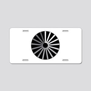 Spinning Wheel Connect Aluminum License Plate