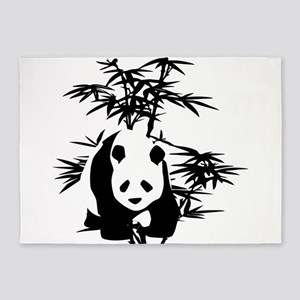 Giant Panda and Bamboo Tree 5'x7'Area Rug
