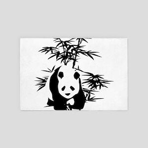 Giant Panda and Bamboo Tree 4' x 6' Rug