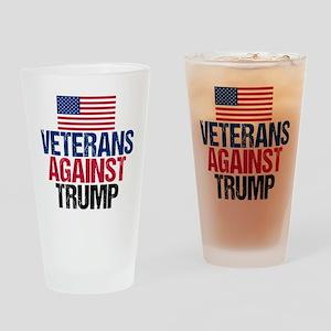 Veterans Against Trump Drinking Glass