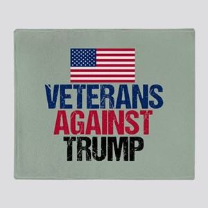 Veterans Against Trump Throw Blanket