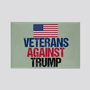 Veterans Against Trump Rectangle Magnet
