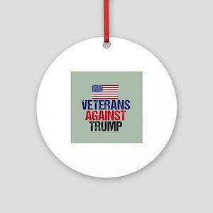 Veterans Against Trump Round Ornament