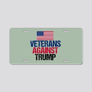 Veterans Against Trump Aluminum License Plate