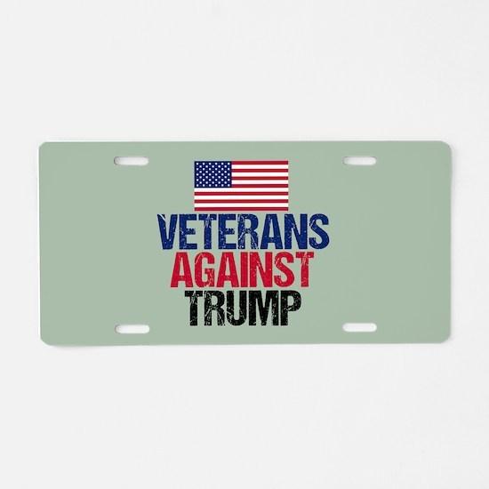 Veterans Against Trump Aluminum License Plate