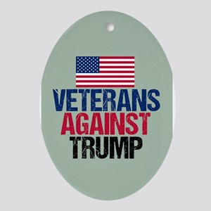 Veterans Against Trump Oval Ornament