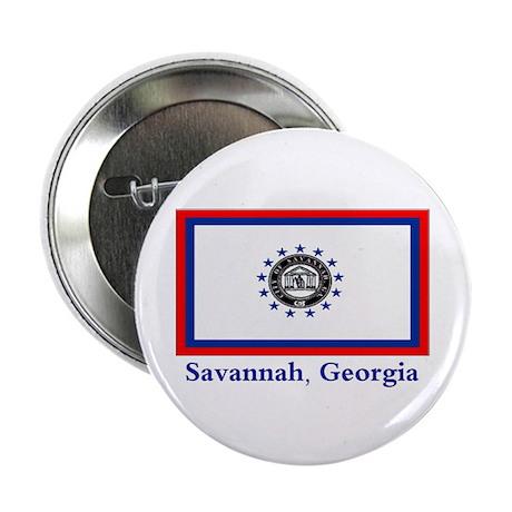 """Savannah GA Flag 2.25"""" Button (10 pack)"""