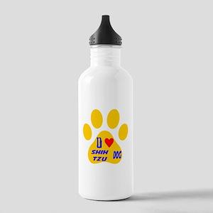 I Love Shih Tzu Dog Stainless Water Bottle 1.0L
