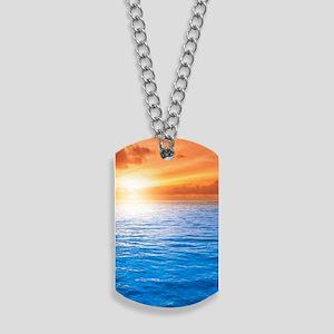 Ocean Sunset Dog Tags