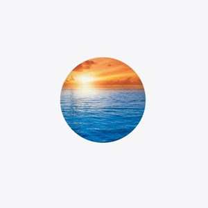 Ocean Sunset Mini Button