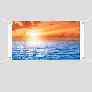 Ocean Sunset Banner