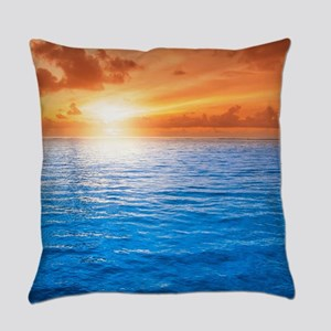 Ocean Sunset Everyday Pillow