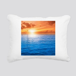 Ocean Sunset Rectangular Canvas Pillow