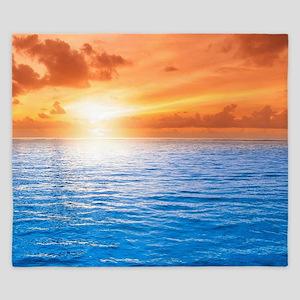 Ocean Sunset King Duvet