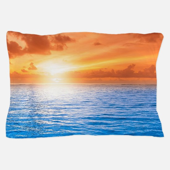 Ocean Sunset Pillow Case