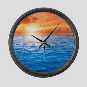 Ocean Sunset Large Wall Clock