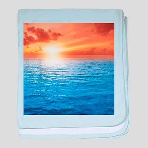 Ocean Sunset baby blanket