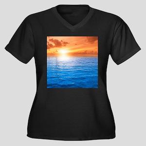 Ocean Sunset Plus Size T-Shirt