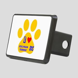I Love Sealyham Terrier Do Rectangular Hitch Cover