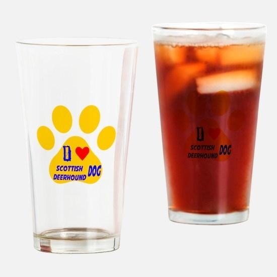 I Love Sealyham Terrier Dog Drinking Glass